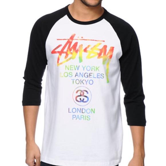 ae64d3f4 Stussy Shirts   City Tour Mens Baseball Top   Poshmark